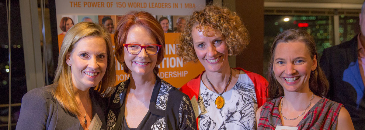 With Julia Gillard and my co-authors Belinda Cohen and Anneli Blundell.