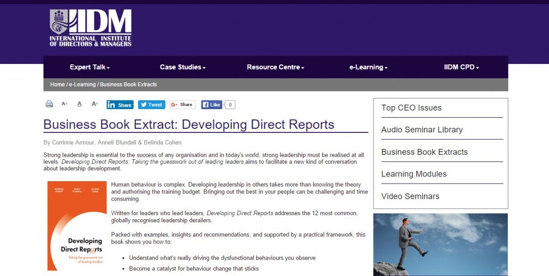 Business Book Extract: Developing Direct Reports