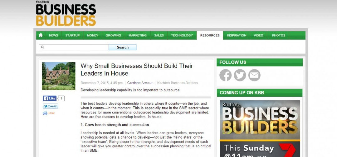 Why Small Businesses Should Build Their Leaders In House
