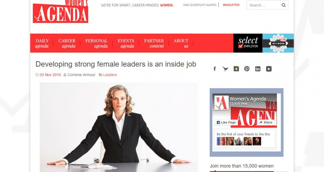 Developing strong female leaders is an inside job