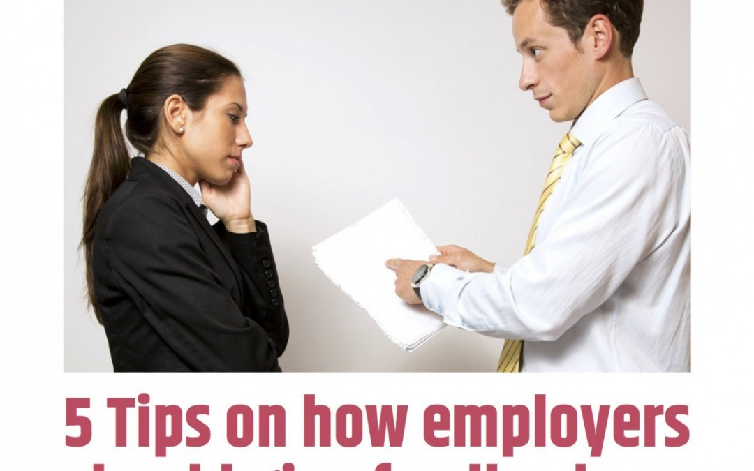 5 Tips on how employers should give feedback
