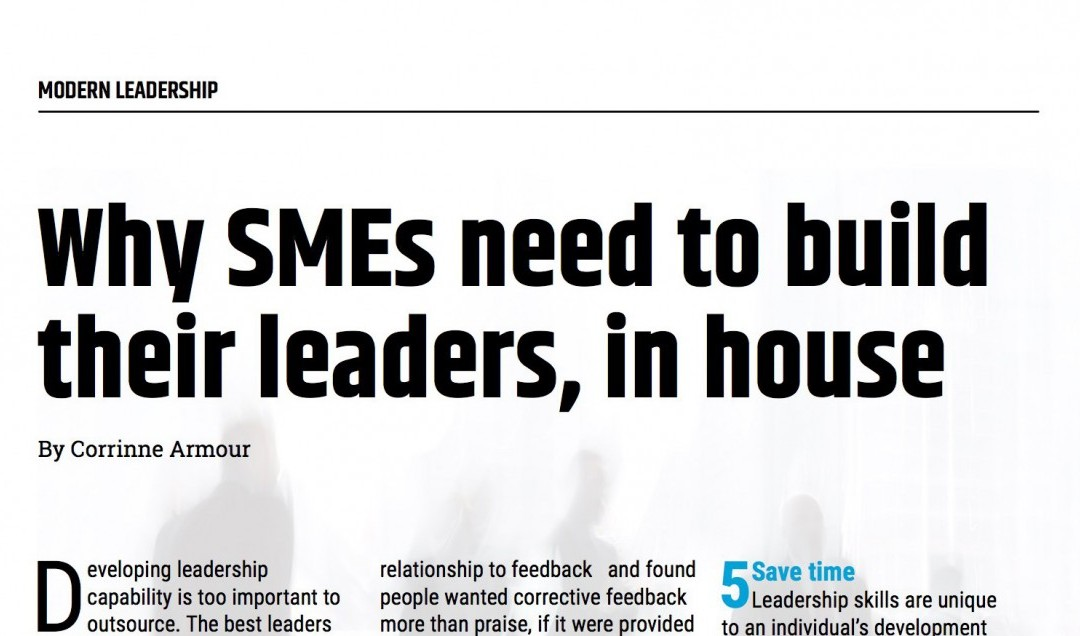 Why SMEs need to build their leaders, in house